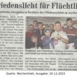 Friedenslicht Wochenblatt 2014